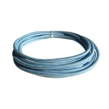 cable manguera eléctrica azul celeste