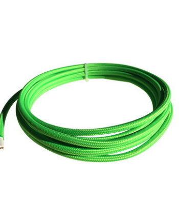 cable manguera eléctrica verde fluor