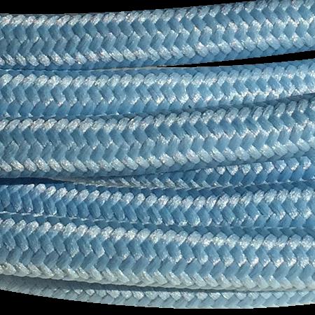 cable manguera forrada rollo color azul cielo detalle