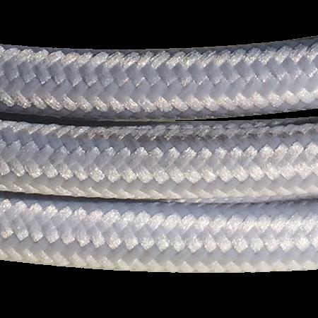 cable manguera forrada rollo color gris topo detalle