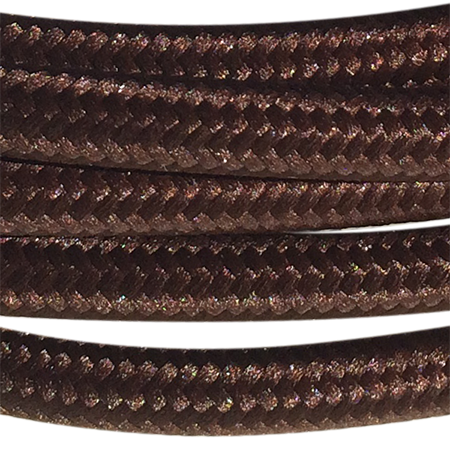 cable manguera forrada rollo color marrón detalle