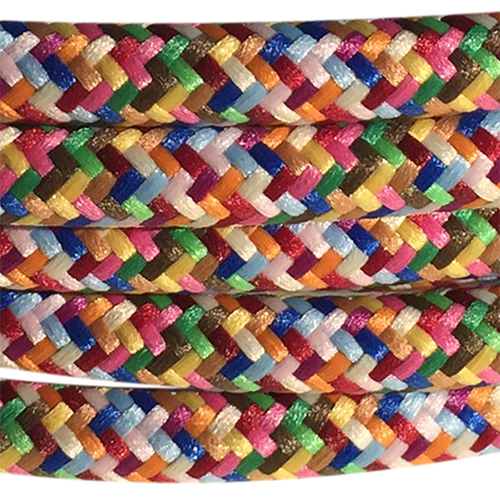 cable manguera forrada rollo color multicolor detalle