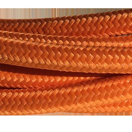 cable manguera forrada rollo color naranja detalle