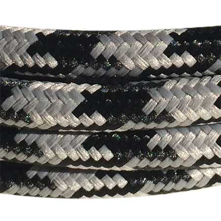 cable manguera forrada rollo color patagallo gris negro detalle