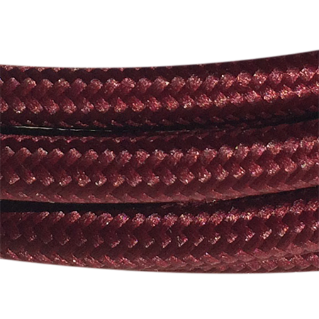 cable manguera forrada rollo color rojo burdeos detalle