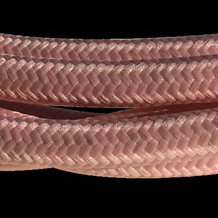 cable manguera forrada rollo color rosa detalle