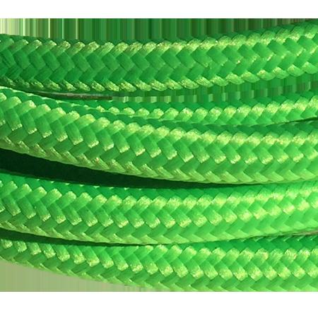 cable manguera forrada rollo color verde fluor detalle