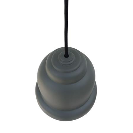 Lámparas industriales gris oscuro vista superior