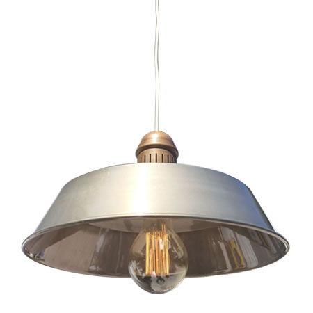 lámpara rústica Hierro lacado con Bezoya Vista Oblicua