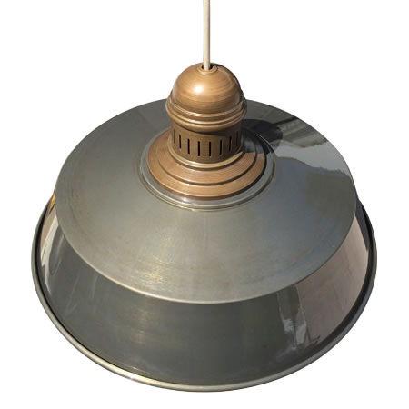 lámpara rústica hierro lacado con bezoya vista superior