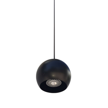 lámparas de techo led miniplanet negro-mate-inferior