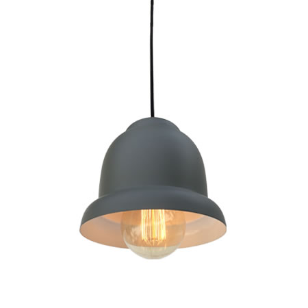 lámparas industriales gris oscuro vista oblicua
