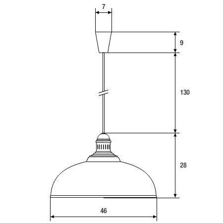 lámpara colgante provenzal superficie cotas