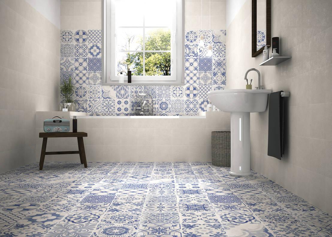 mosaico hidráulico 3D SKYROS BLANCO