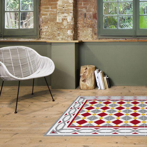 mosaico hidráulico alfombra imitación mosaico