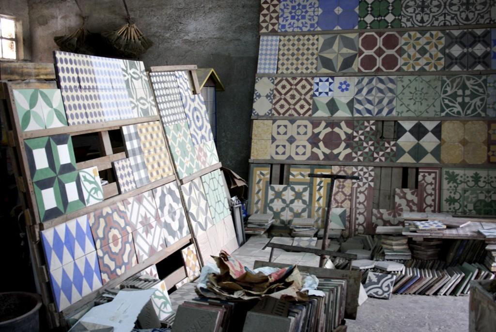 mosaico hidráulico artesanía