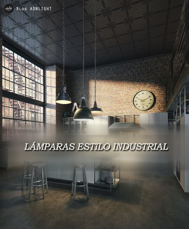 L mparas estilo industrial l mparas industriales - Iluminacion estilo industrial ...