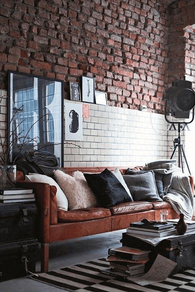lámparas-estilo-industrial-pared-ladrillo-estilo-industrial