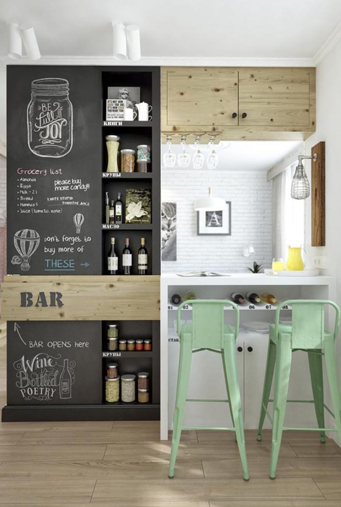 lámparas-estilo-industrial-pared_pizarra-cocina-estilo-industrial