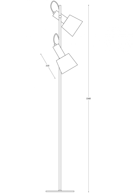 lámpara de pie collina-2tulipas-cotas