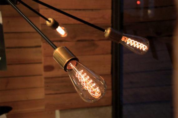 Lámpara colgante atomium detalle