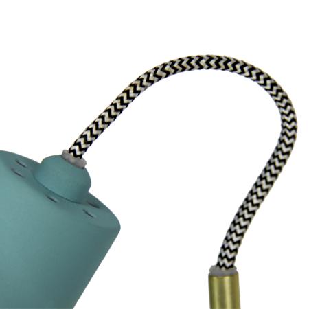 lámpara de pie turquesa Arne cable-textil