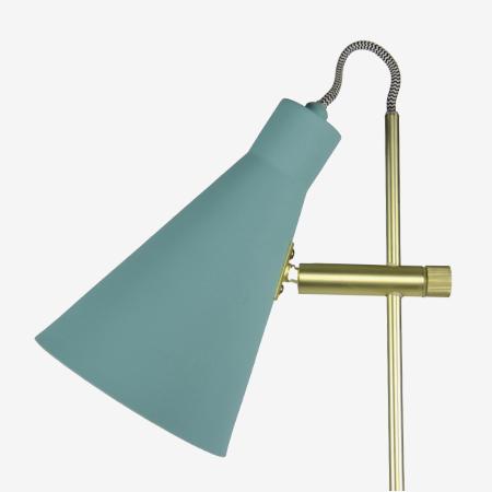 lámpara de pie turquesa Arne cable-textil foco