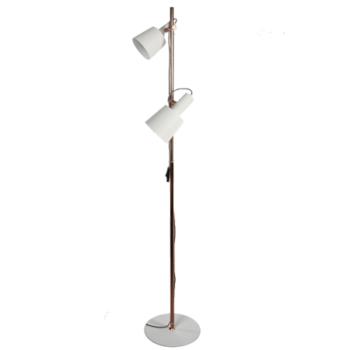 Lámpara de pie dos focos Collina doble tulipa.