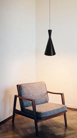 lámpara colgante diábolo de empotrar sillón