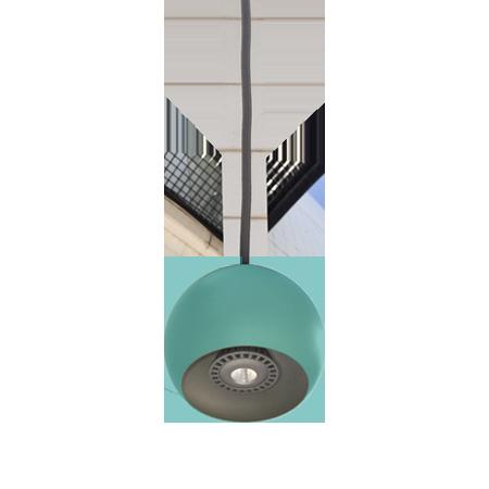 lámpara colgante miniplanet de empotrar turquesa abajo