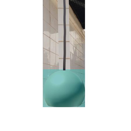 lámpara colgante miniplanet de empotrar turquesa recto