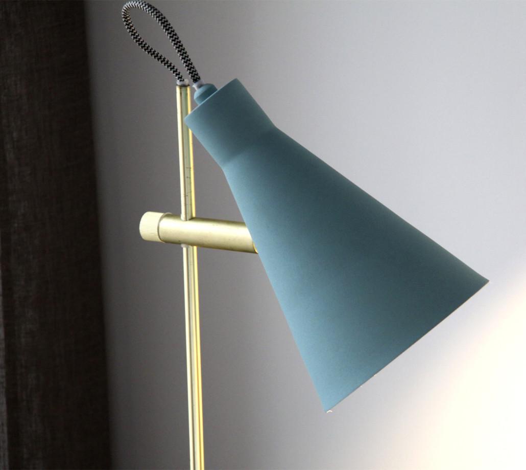 nuevas lámparas turquesa detalle tubo arne
