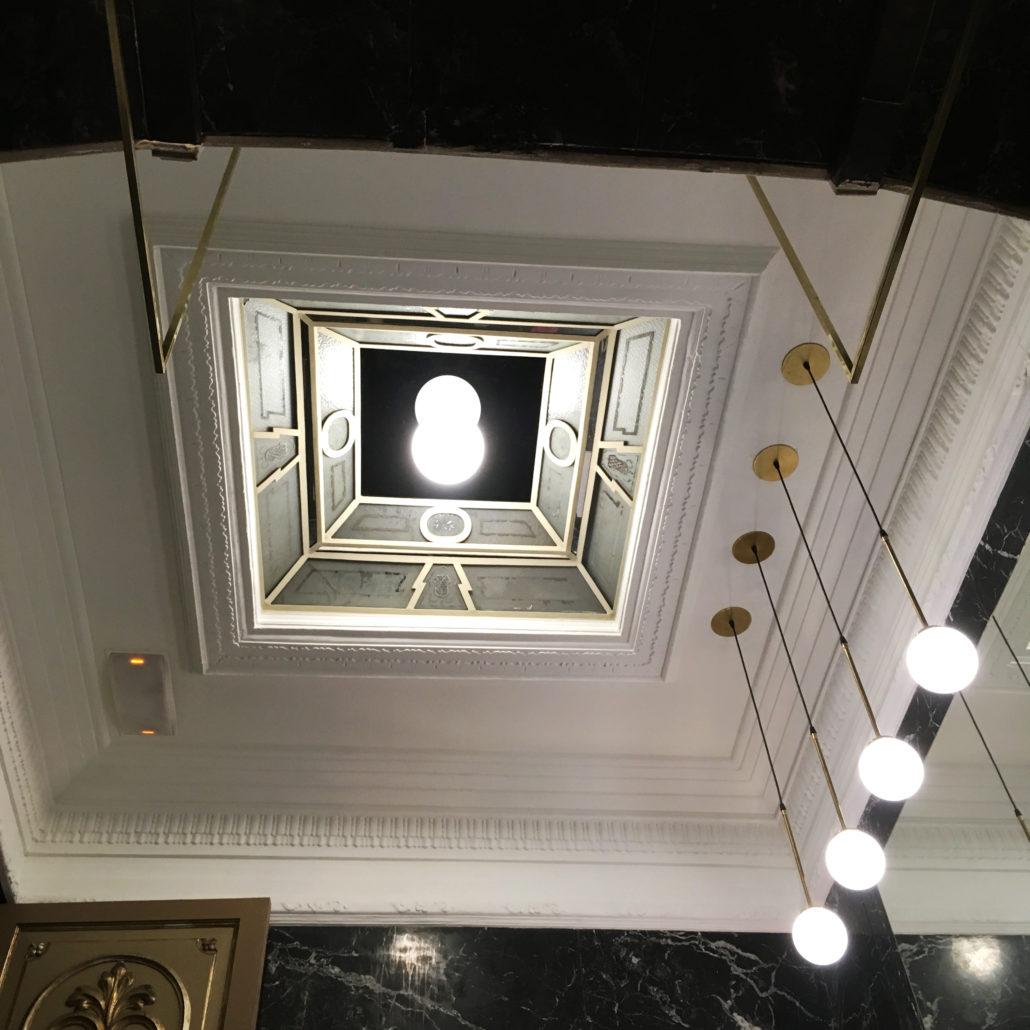 lámpara colgante keppler tija 12 con plafón 20 espejo