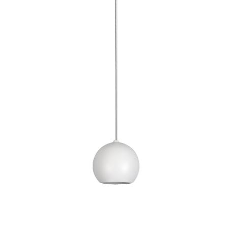 Lámpara colgante microplanet blanco, manguera blanca