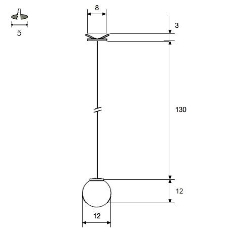 Lámpara colgante keppler 12 COTAS WEB