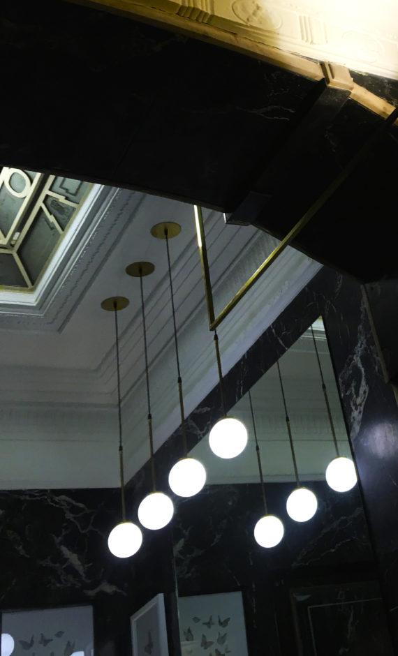 Lampara colgante keplper tija 12 espejo