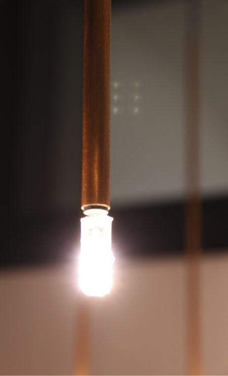 lámpara colgante Stick cobre 21 adnlight