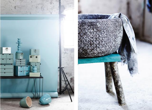 nuevas lámparas turquesa decoración azul