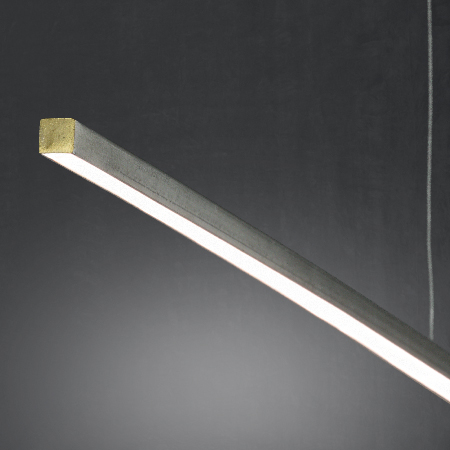 detalle lampara recta