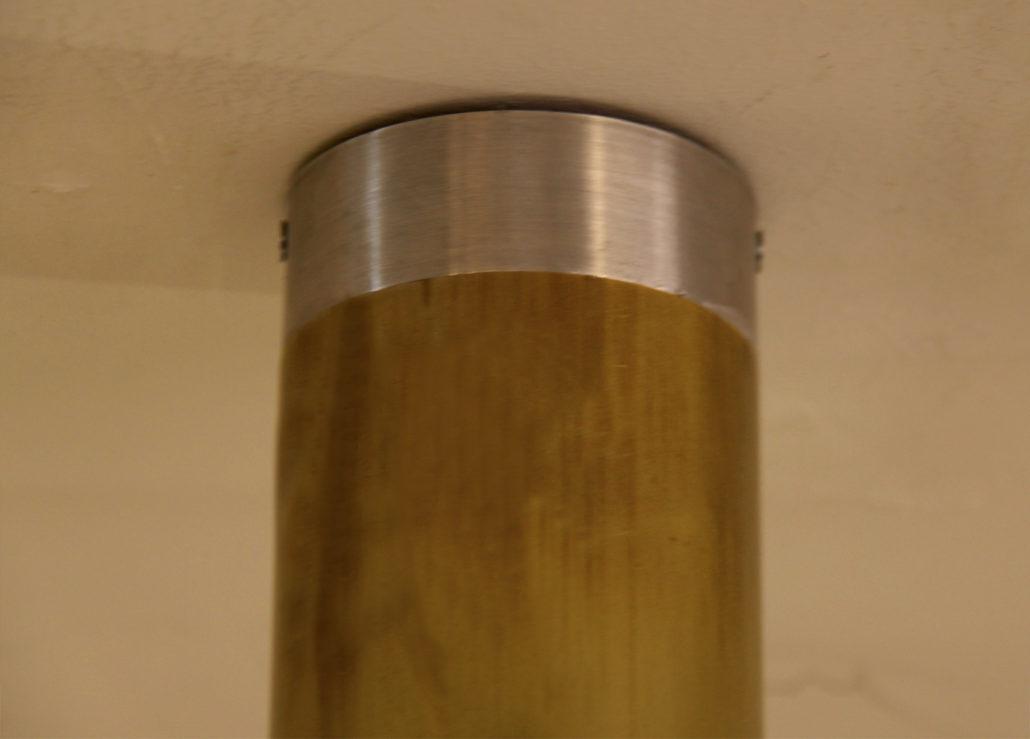 foco tube detalle franja plateada