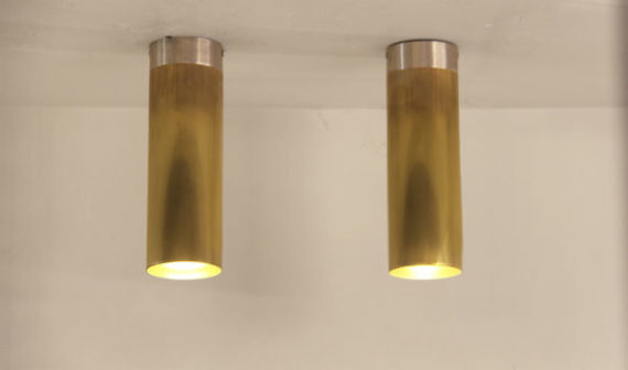 foco tube franja plateada dos techo