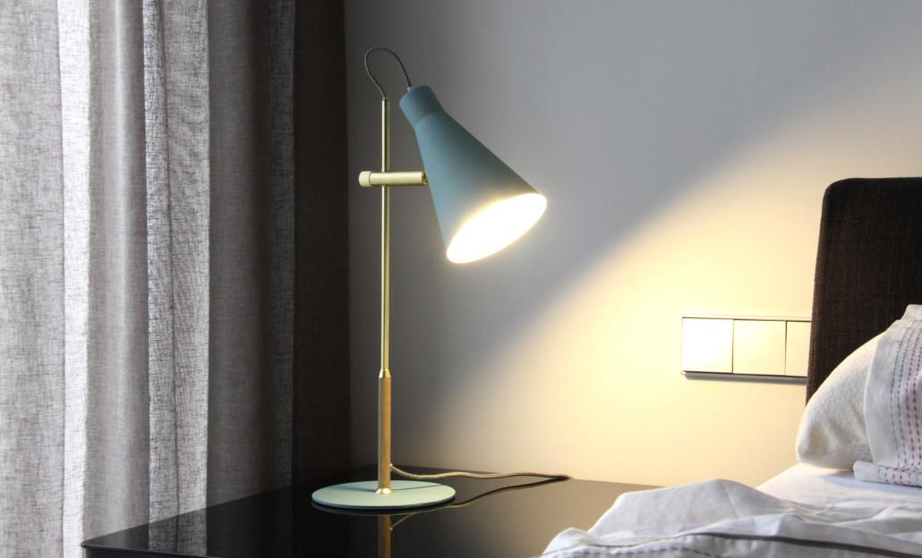 nuevas lámparas turquesa sobremesa arne nat