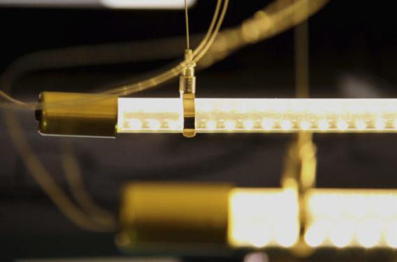 Lámpara colgante Válvula detalle latón