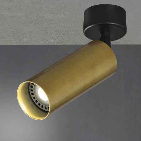 Foco tubo 55 superficie con rotula
