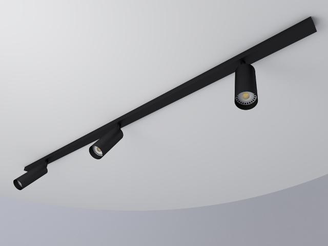 -regleta negra 3 tubos 55 negro