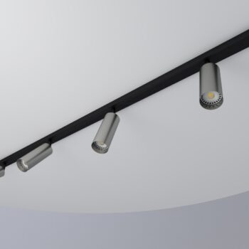 regleta negra 3 tubos 55 aluminio