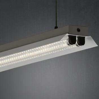 Lámpara pantalla Icaro 2 tubos
