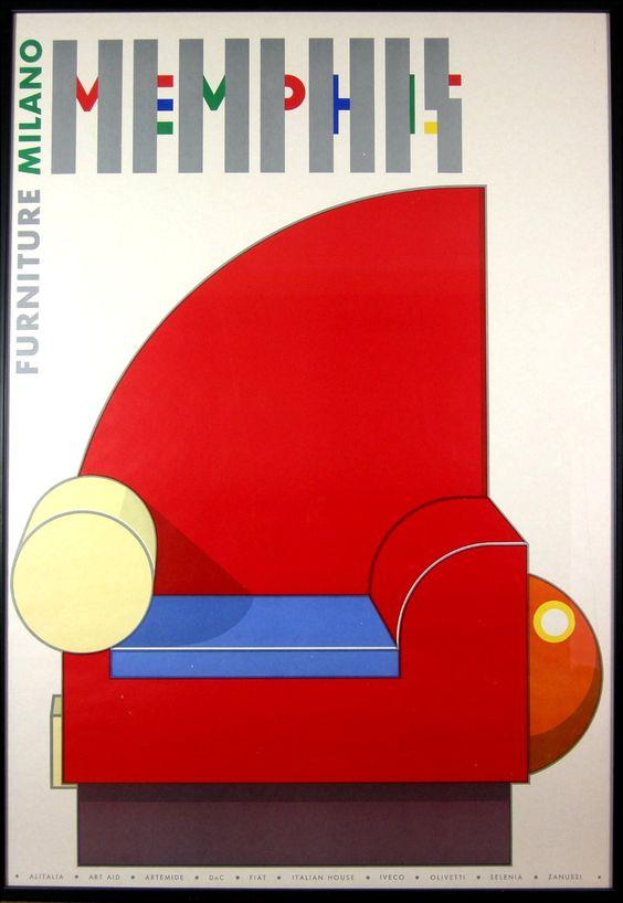 Cartel Grupo Menphis Feria de Milán 1981