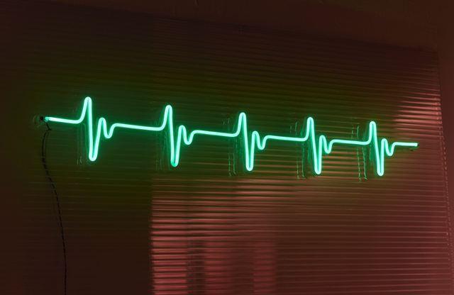neon decorativo pulso