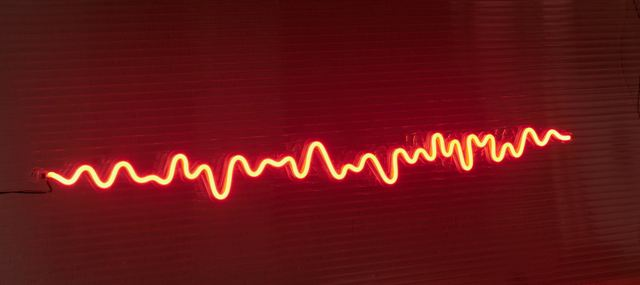 Neón decorativo línea sonido